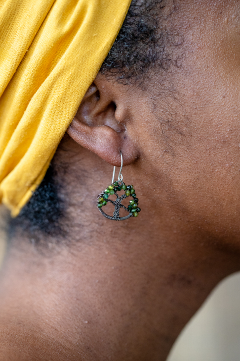 Live Oak Gemstone Earrings - Tourmaline