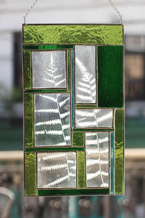 Stained Glass with Fern