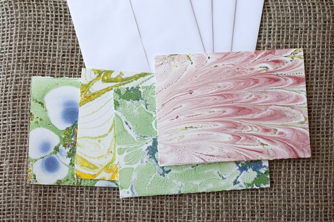 Marbled Note Cards / serpentine