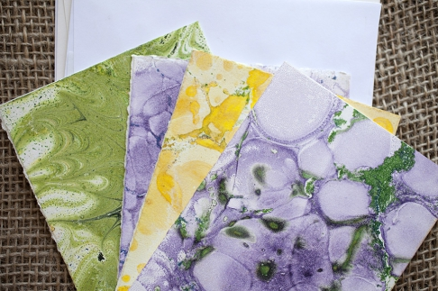 Marbled Note Cards / bismite
