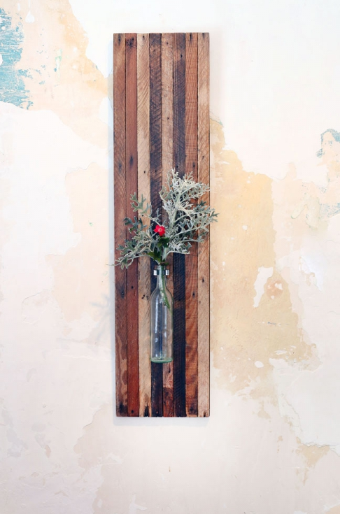 Large Lath Board Wall Vase