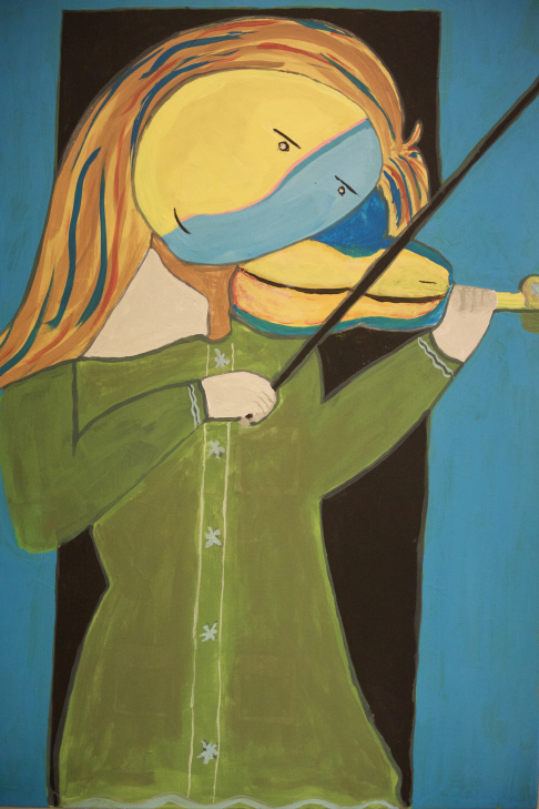 Girl Playing A Violin 1