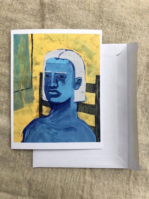 Blue Notecard