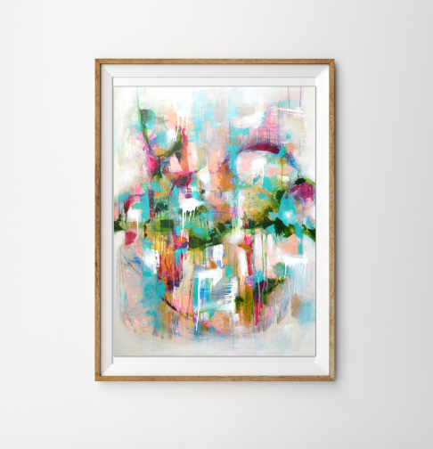 Abstract Giclee Print - Titled 'Candy Crush'