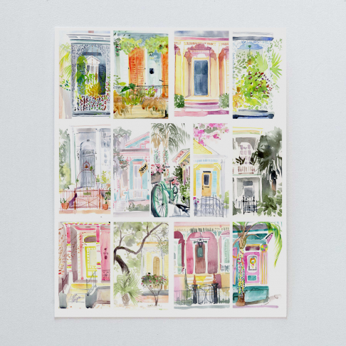 Doors of New Orleans - special edition print