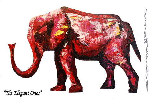 The Elegant Ones - Red Elephant