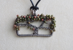 Oak Tree Necklace - Unakite