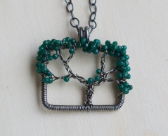 Oak Tree Necklace - Jade