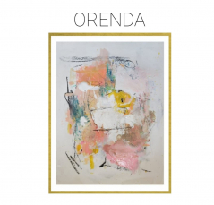 Orenda - Archival Print of Mixed Media Abstract on Watercolor Paper