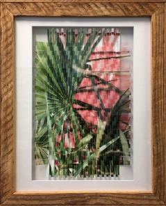 Islands Photo-Weave Framed w/ Reclaimed Wood