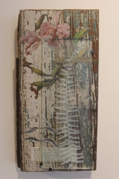 Mixed Media Collage with Fern