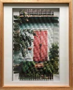 Paula - Photo Weaving framed in Oak