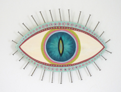 Evil Eye Talisman | Multicolor Cat Eye - Large