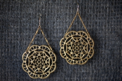 Deco Lace Trapeze Earrings