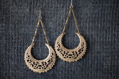 Deco Crescent Trapeze Earrings