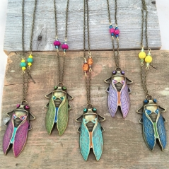 Cicada Bug Necklace