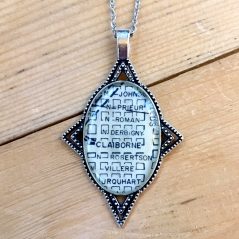 Bywater Antique Map Necklace