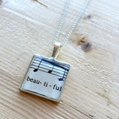 Beautiful Music Pendant Necklace