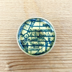 Garden District Map Bolo Tie Clip