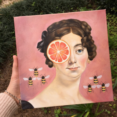 Madame Leblanc with Bees