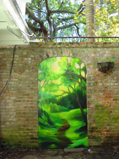 "French Quarter Mural ""Secret Garden"""