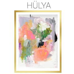 Hulya - Archival Print of Mixed Media Abstract on Watercolor Paper