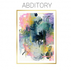 Abditory - Mixed Media Abstract on Watercolor Paper - Original