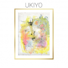Ukiyo - Mixed Media Abstract on Watercolor Paper - Original
