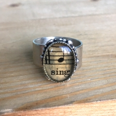Sing Sheet Music Ring