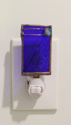 Double Line Copper Blue Nightlight