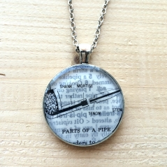Pipe Illustration Necklace
