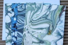 Marbled Note Cards/Opal