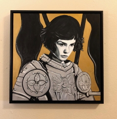 Joan of Arc in Black, White & Gold