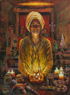 Marie Laveau Casting a Spell