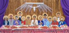 Last Supper with Special Guests print