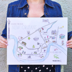 Walking Through New Orleans Illustrated Map