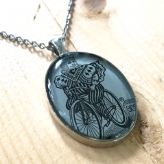 Bicycle Playing Card King Pendant