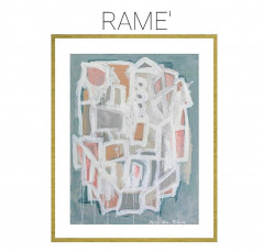 Rame' - Archival Print of Mixed Media Abstract on Watercolor Paper