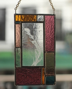 Stained Glass with Mustard Plant