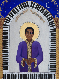 Saint James with Maple Leaf Rosary (James Booker)