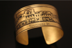 French Quarter (Toulouse St.) Etched Cuff Bracelet