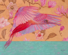 Spoonbill and Magnolias