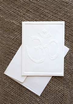 Embossed Notecards - Om