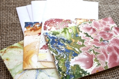 Marbled Note Cards / cinnabar