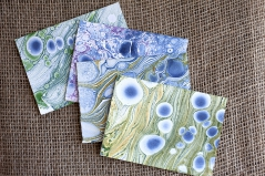 Marbled Note Cards / geodes