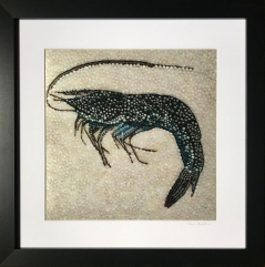 Gulf Shrimp ~  Metallic Lustre Fine Art Print