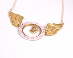 Time Flies Love Necklace