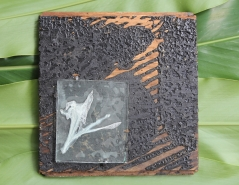 Stargazer Lily Enverre on Reclaimed Floor Tile