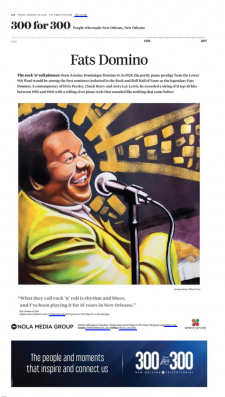 Fats Domino / article from Nola.com