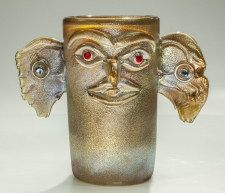 Gold Totem Bird Vase / Main Image